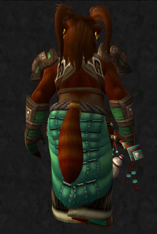Female Pandaren Monk - Back