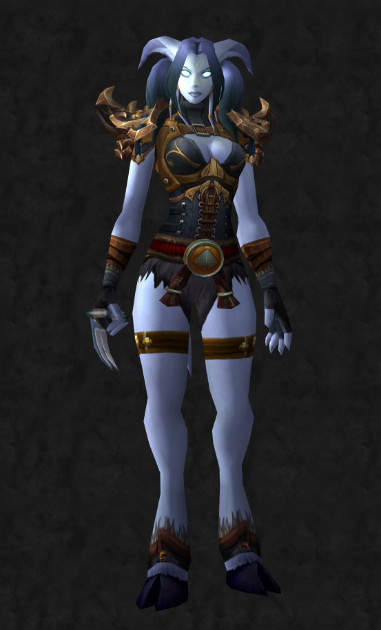 Female Draenei Monk - Front