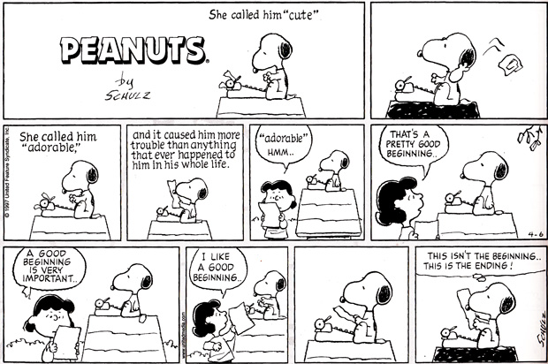 Snoopy, one of my favorite writers. :)
